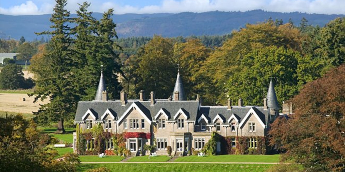 Scottish baronial arkitektur Ballathie House hotell