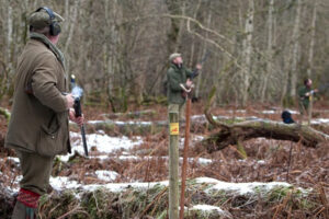 guns on pegs Scotland shooting