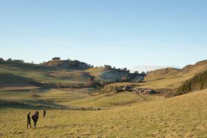 shooting in open landscape