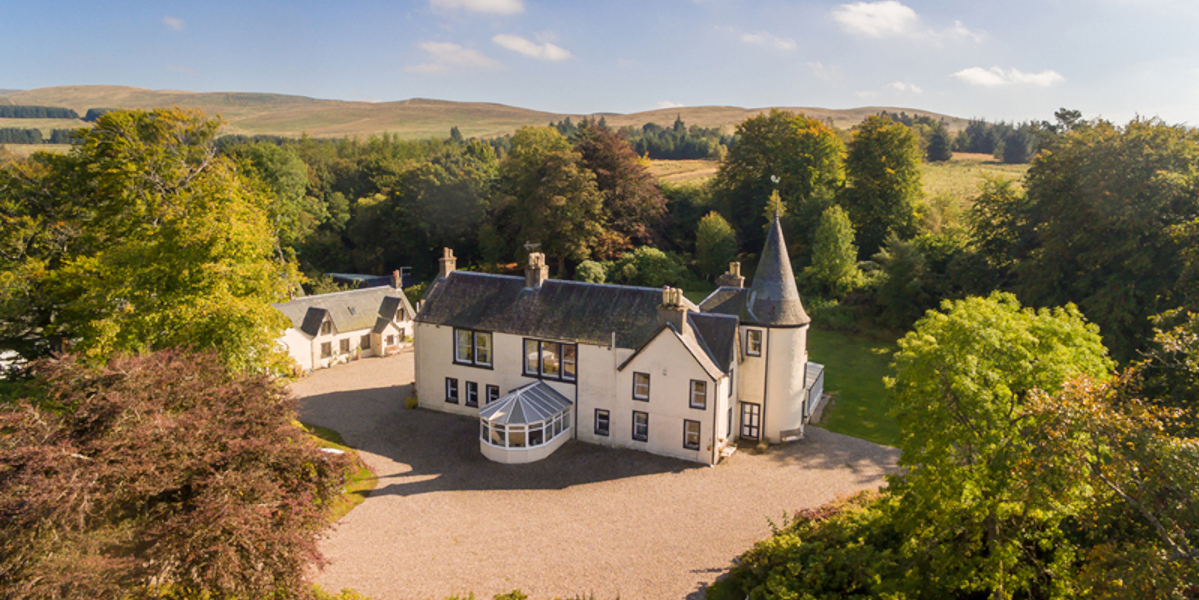Scottish country house in wooded policies