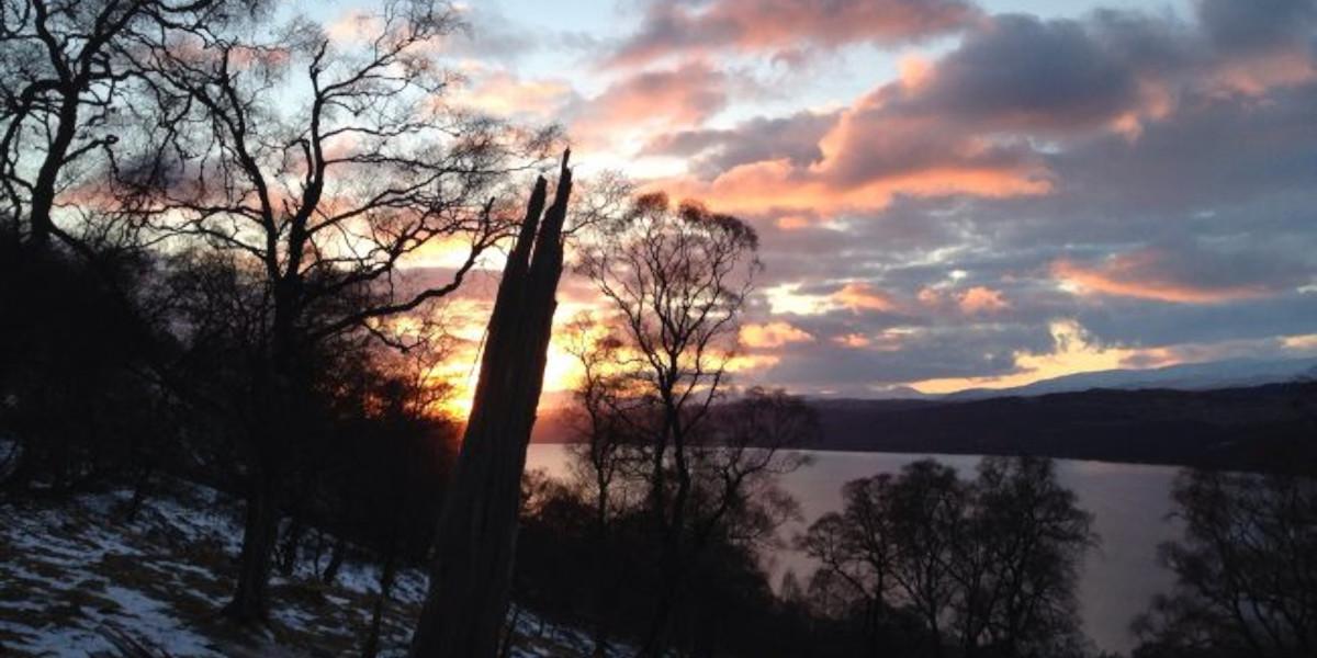 nnerhadden_estate_Sunset_over_loch_rannoch