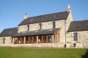 stone built Scottish highland estate farmhouse