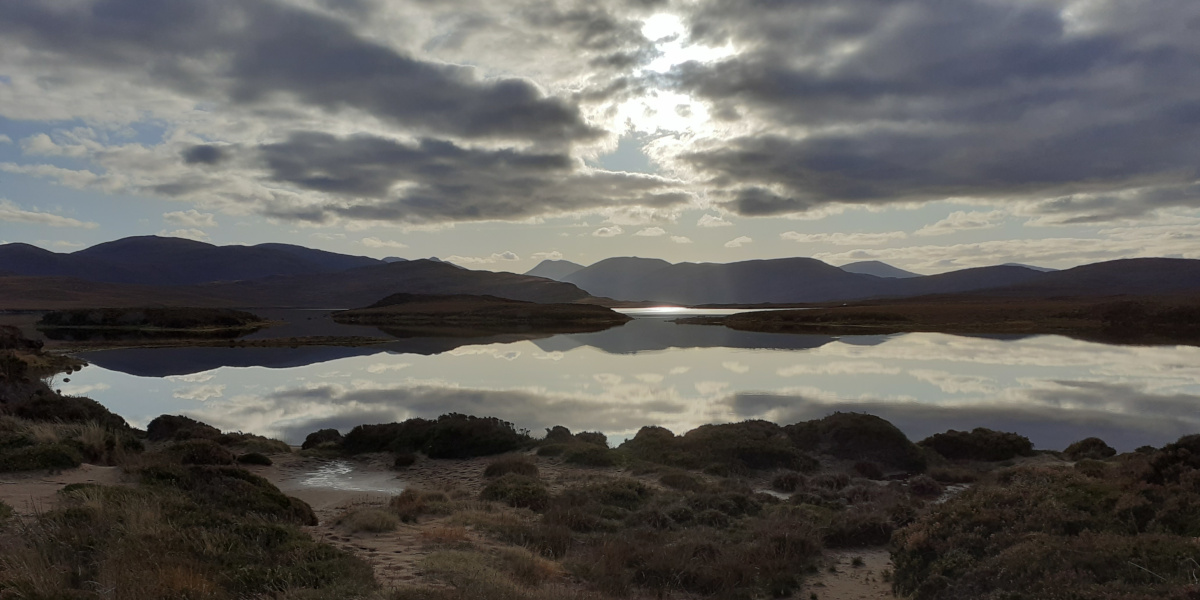 sunset over loch Lewis