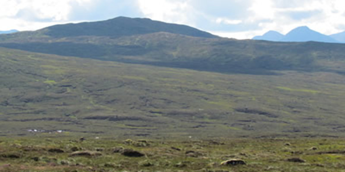 Scottish moorland with mountains