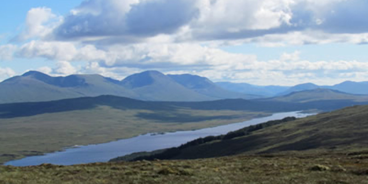 Scottish loch and mountains