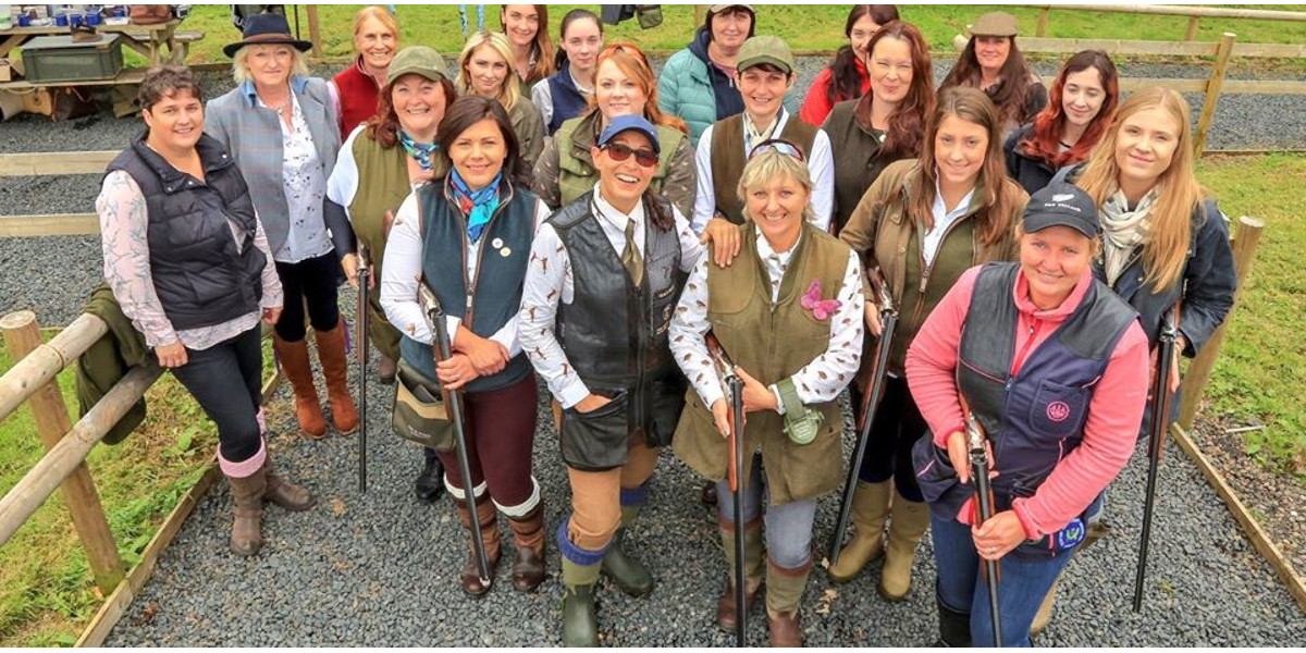 team of lady clay pigeon shooters