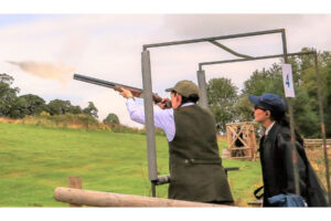 lady clay clay pigeon shooting with lady coach Scotland