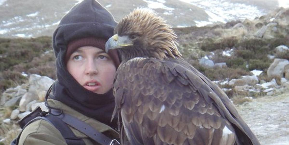 Falkner mit Adler