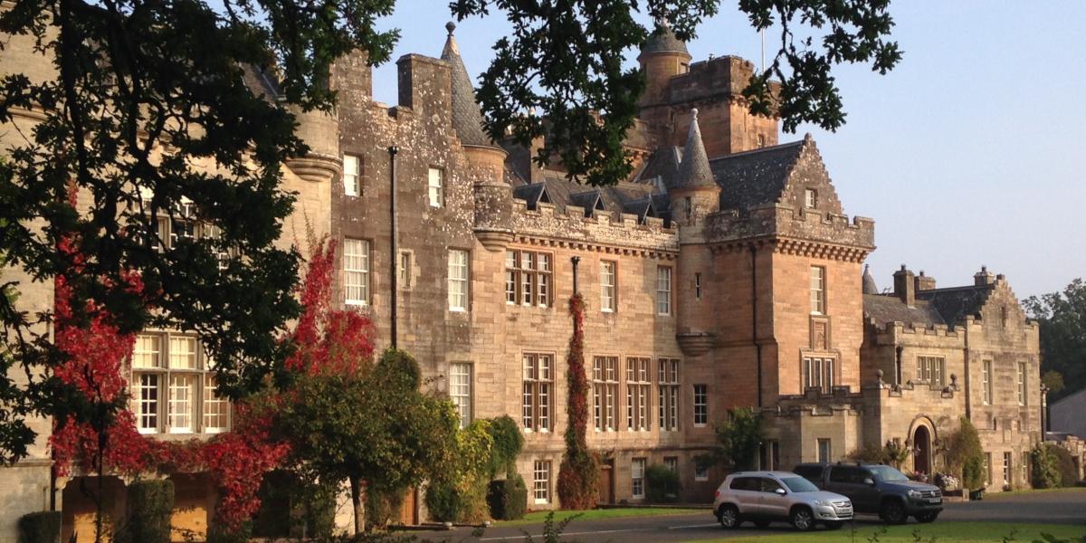 Glenapp Castle exterior autumn colours