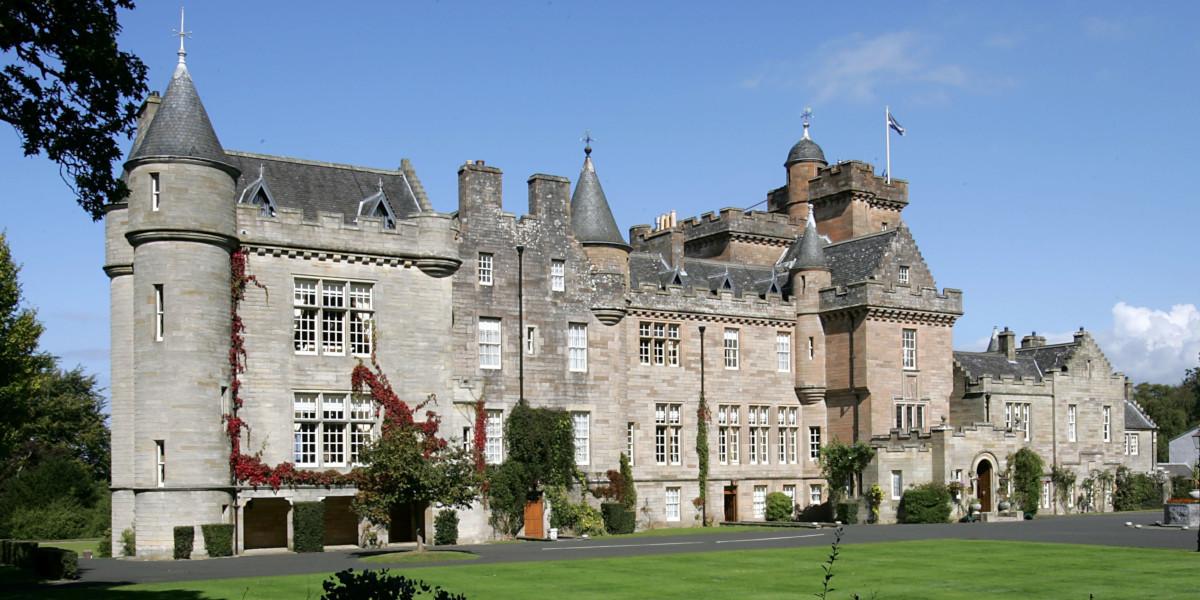 Glenapp Castle exterior Scots Baronial