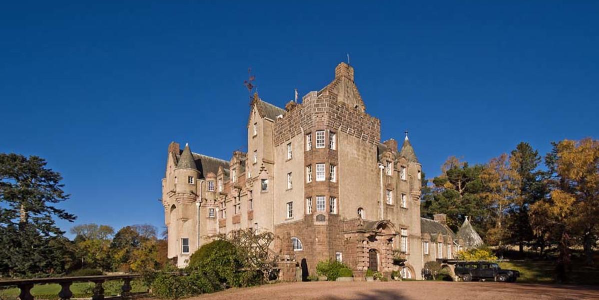 corner of Scottish Castle exterior