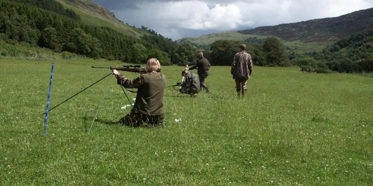 target shooters in field