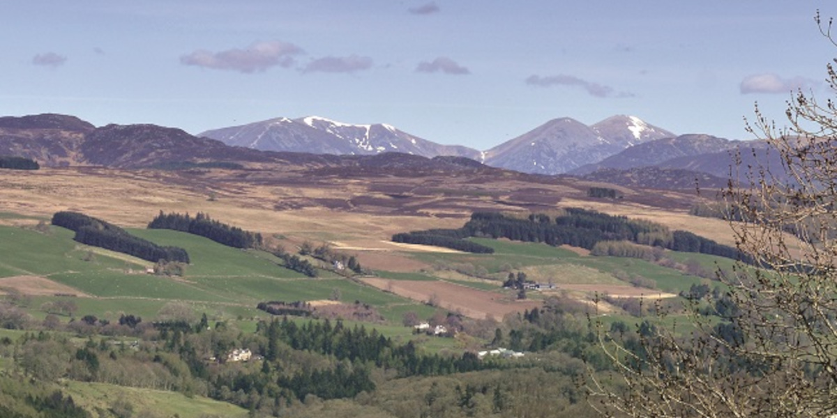 view of perthshire hills