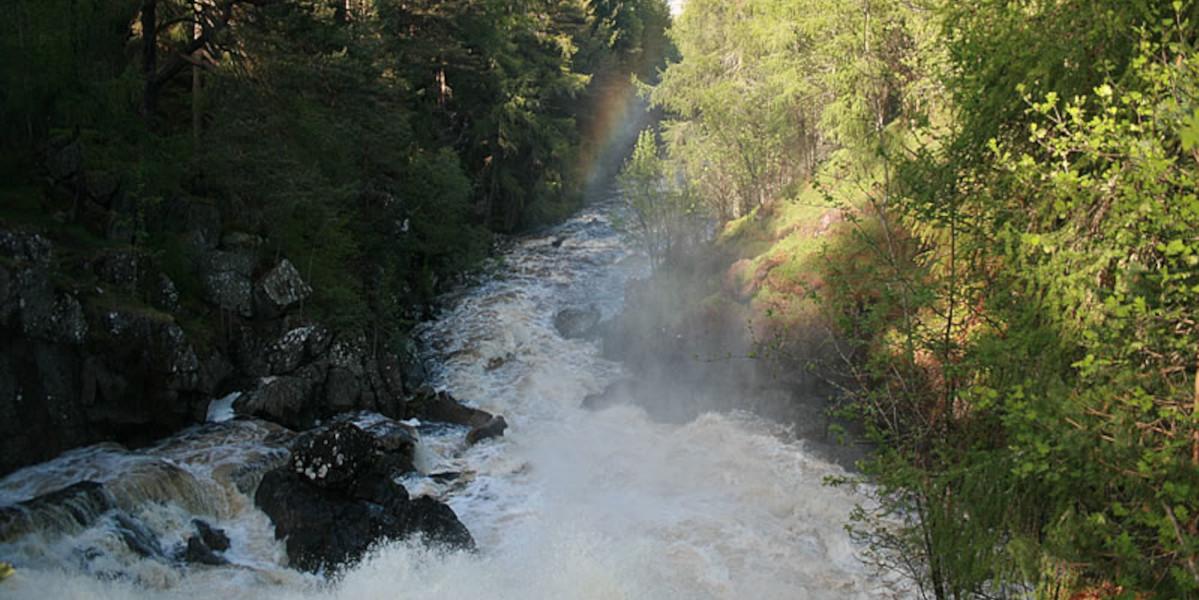 Scottish river in spate