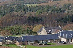 holiday cottages in country landscape