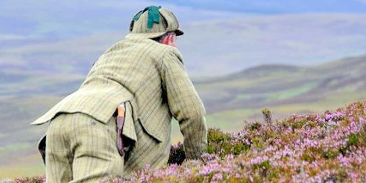 Stalker, der unter Heide ausspioniert