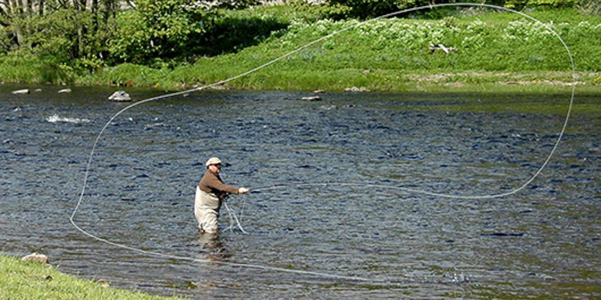 Angler Spey Casting für Atlantiklachs