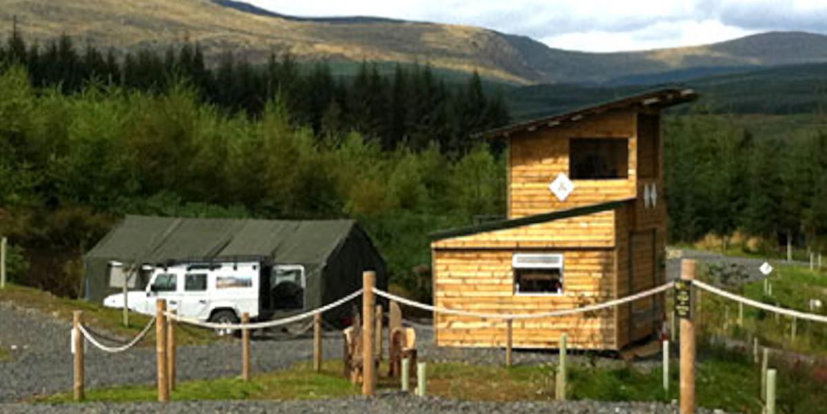 cabaña de día de madera