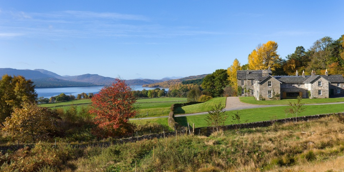 Scottish country house exterior view