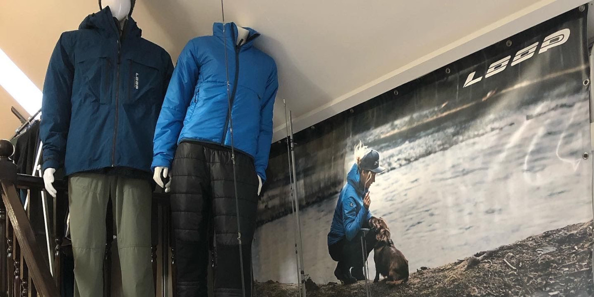 tackle shop loop poster and clothes dummies