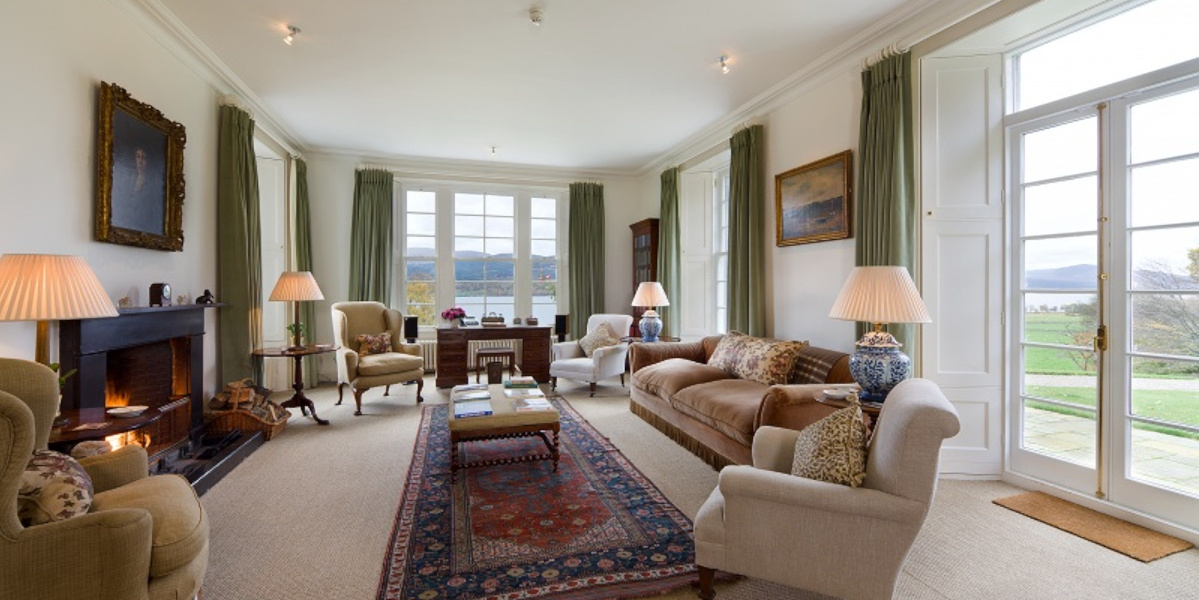 Scottish country house sitting room