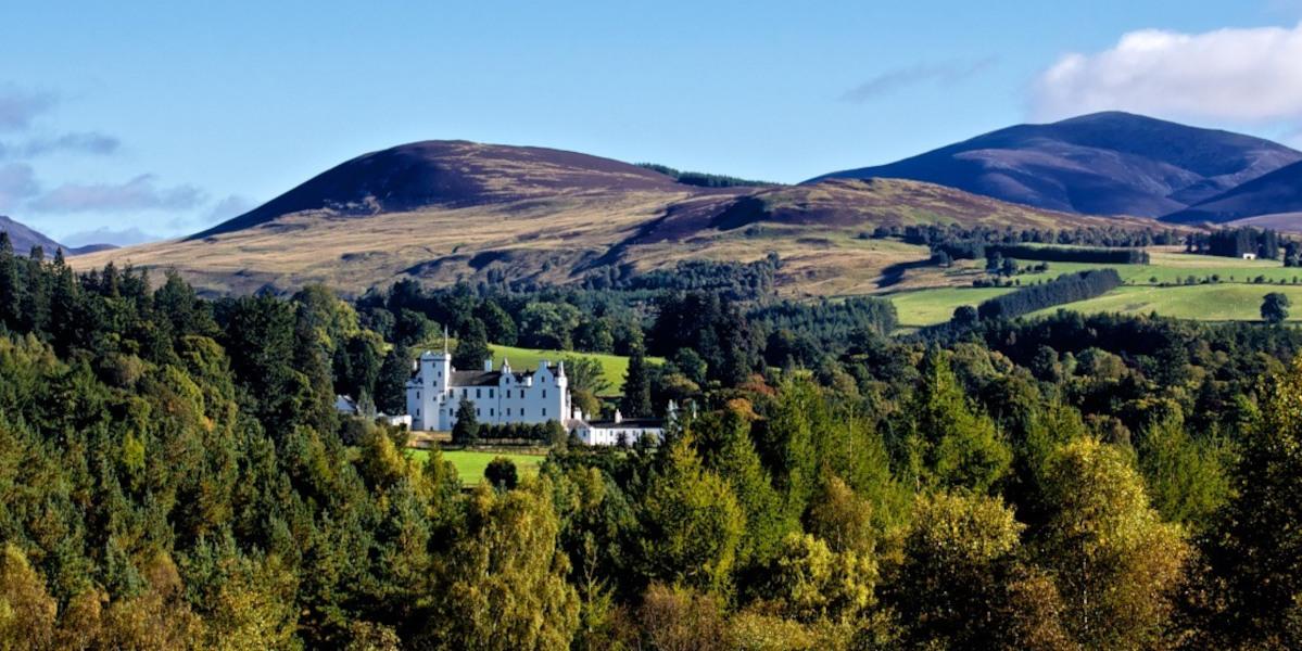 White Scottish castle