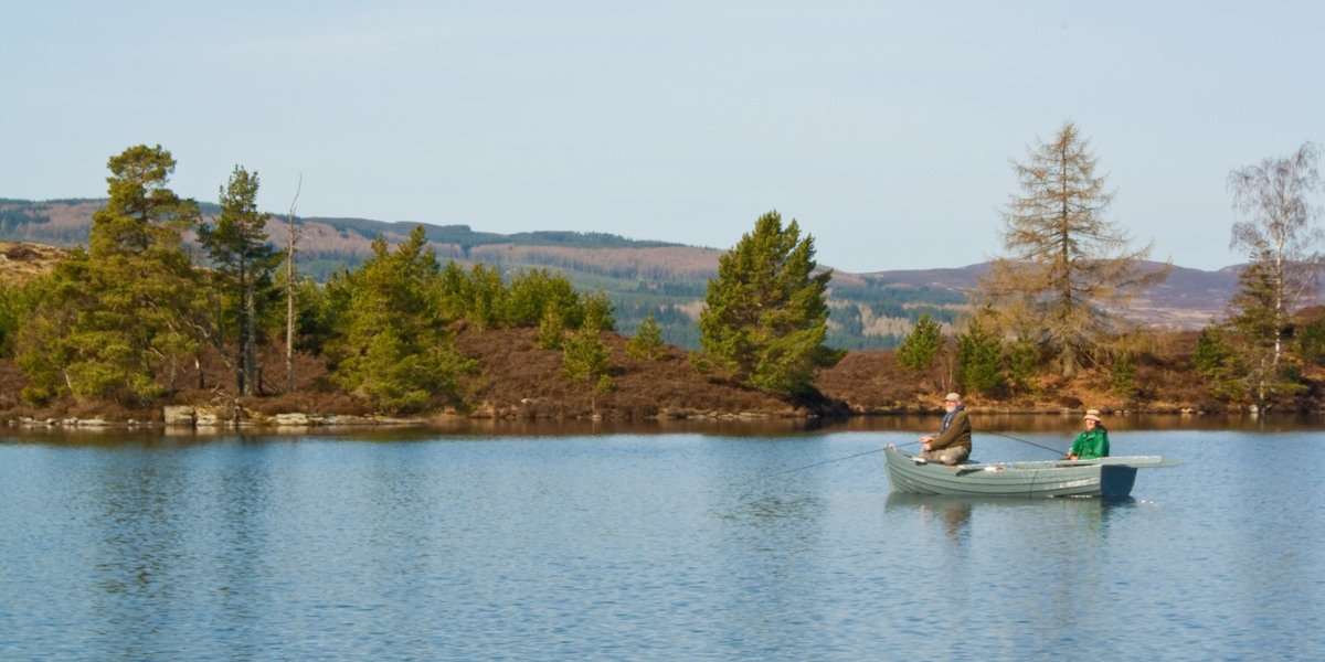 2 men fishing from boat