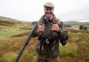 Nick Nairn with a brace of grouse