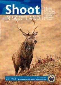 Magazin-Cover mit rotem Hirsch