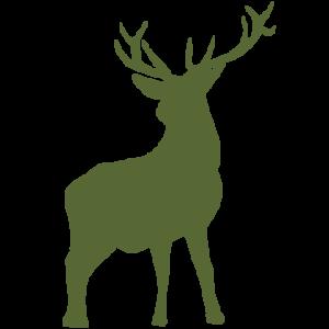 röd hjort hjort grön ikon