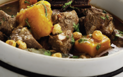 Game Meat and Fish Recipes – Roe Deer Tagine with Butternut Squash, Raisins and Harissa from Scotland's Natural Larder developed by Maxine Clark