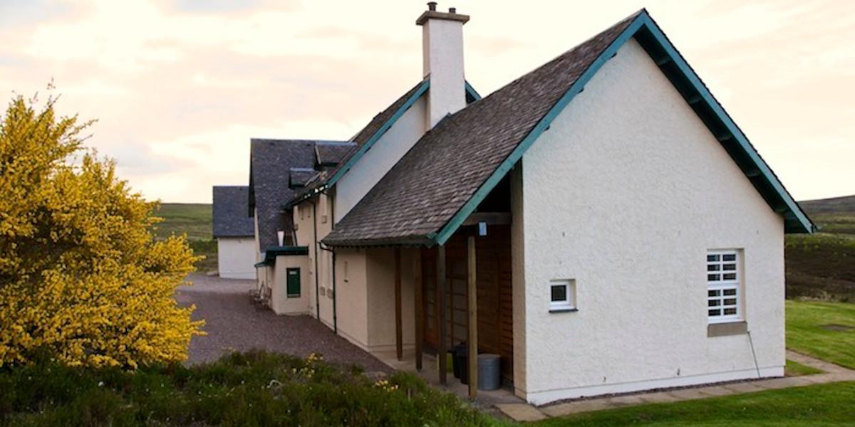 rear of lodge